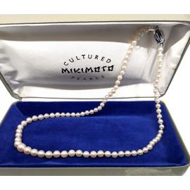 Mikimoto Graduated Akoya Pearl Necklace 47cm image