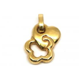 18ct Heart Flower Charm image
