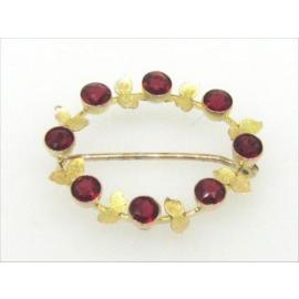 9ct Synthetic Ruby Brooch image