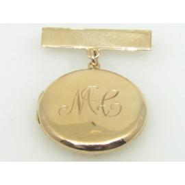 9ct Locket/Bar Brooch image