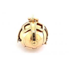 9ct/Sterling Silver Masonic Puzzle Ball Pendant image
