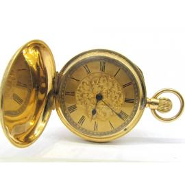 18ct Flower Engraved Pocket Watch image