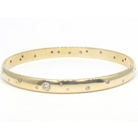 9ct Diamond Punch Set Bangle image