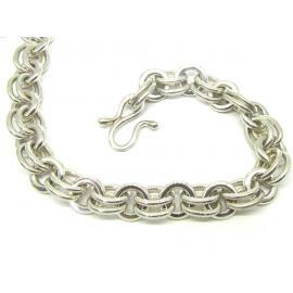 Stg Heavy Fancy Link Necklace 50cm image