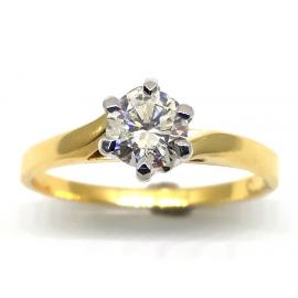 18ct Diamond Solitaire Ring TDW.53ct image