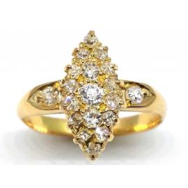 18ct Diamond Marquise Cluster Ring image