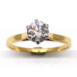 18ct Diamond Solitaire Ring TDW.58ct image