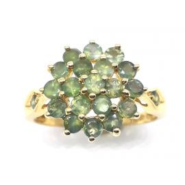 14ct Green Sapphire Cluster Ring image