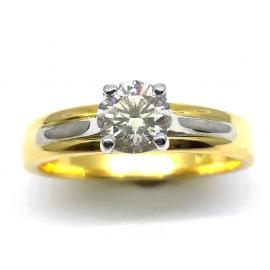 18CT Diamond Solitaire Ring TDW 0.55CT image