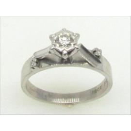18ct White Gold Diamond Solitaire Ring TDW 0.18CT image