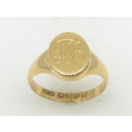 18ct Mourning Signet Ring image