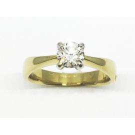 18ct Diamond Solitaire Ring TDW 0.50CT image
