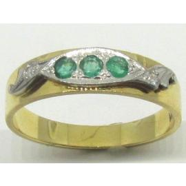 18ct Emerald and Diamond Eternity Ring image