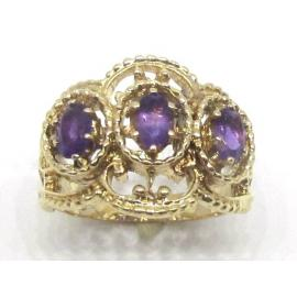 9ct Amethyst Antique-Style Ring image