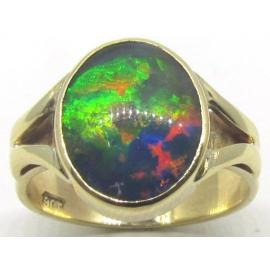 9ct Oval Triplex Opal Ring image