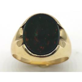 9ct Oval Bloodstone Signet Ring image