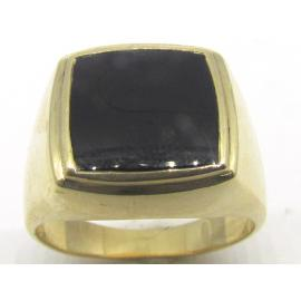 9ct Onyx Signet Ring image