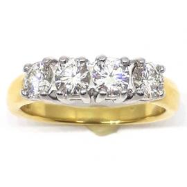 18ct 4 Diamond Ring image