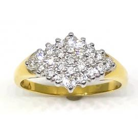 18ct Diamond Shaped Diamond Cluster image