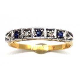 18ct Sapphire and Diamond Eternity Ring image