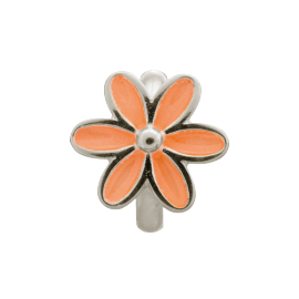 Endless Coral Enamel Flower Charm image