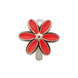 Endless Red Enamel Flower Charm image