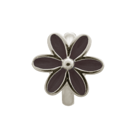 Endless Black Enamel Flower Charm image