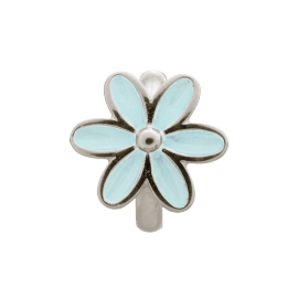 Endless Light Blue Enamel Flower Charm image