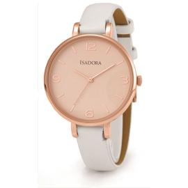 Isadora Coin Rose & White Watch image