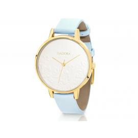 Isadora Andorra Gold and Blue Embossed Watch image