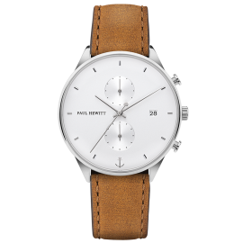 Paul Hewitt Chrono Line Silver/Tan Watch image