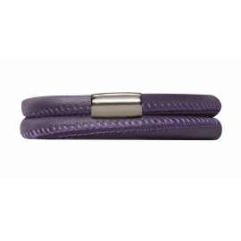 Double Purple Leather Bracelet image