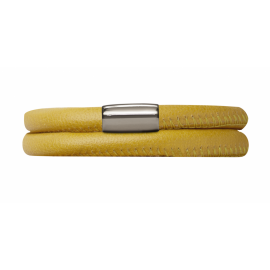Double Yellow Leather Bracelet image