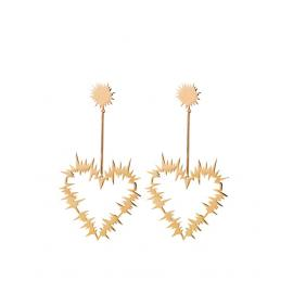 Karen Walker Stg/14ct Gold Plated Electric Heart Drop Earrings image