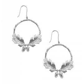 Karen Walker Stg Acorn & Leaf Wreath Earrings image