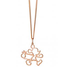 Limited Edition Karen Walker 9ct Rose Runaway Mickey Outline Pendant image