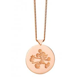 Limited Edition Karen Walker 9ct Rose Runaway Mickey Stamp Pendant image