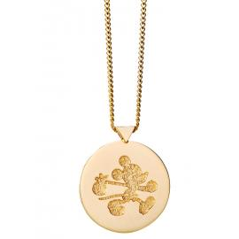 Limited Edition Karen Walker 9ct Runaway Mickey Stamp Pendant image