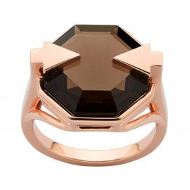 Karen Walker 9ct Rose Gold Astrid Ring with Smokey Quartz image