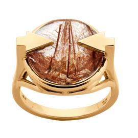 Karen Walker 9ct Navigator Ring with Rutilated Quartz image