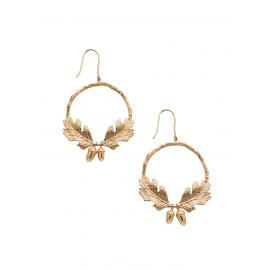 Karen Walker 9ct Acorn & Leaf Wreath Earrings image