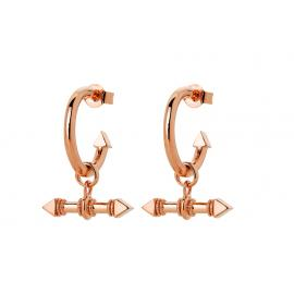 Karen Walker 9ct Rose Arrow Fob Earrings image