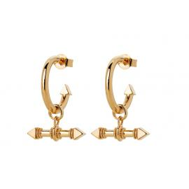 Karen Walker 9ct Arrow Fob Earrings image