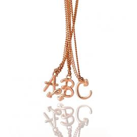 Karen Walker 9ct Rose Love Letters Initial Necklace image