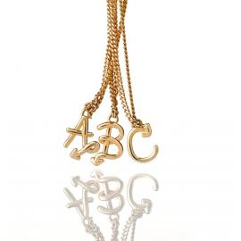Karen Walker 9ct Love Letters Initial Necklace image