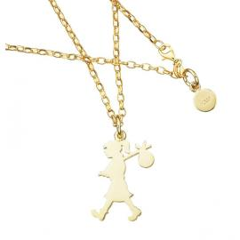 Karen Walker 9ct Runaway Girl Pendant - Large image