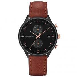 Paul Hewitt Chrono Line Black/Brown Watch image