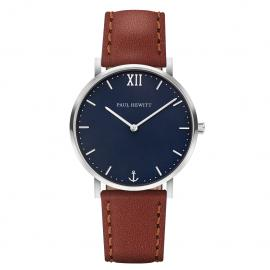 Paul Hewitt Sailor Line Silver/Brown Watch image