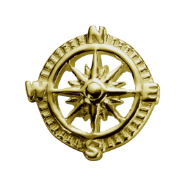 Stow 9ct Compass Charm image