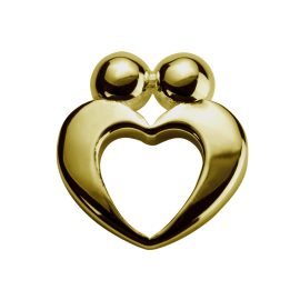 Stow 9ct True Love Charm image
